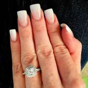 27 square acrylic nails design