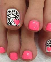 cool toe nail design summer