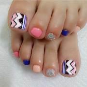 unique design toenails