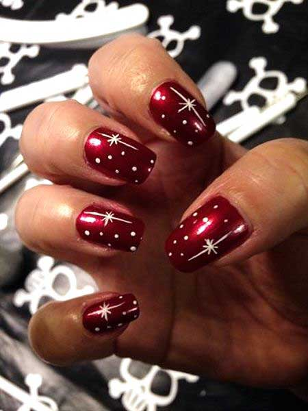 Christmas Art Valentine Nail Red Heart