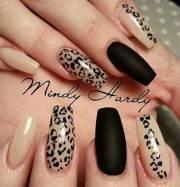 coolest black nail design