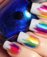 10 Pics of Amazing Multi Color Nail Designs