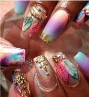 unique crazy nail design