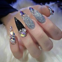 20 Best Nail Art Ideas with Rhinestones - Nail Art Designs ...