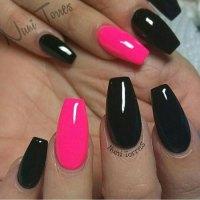 20 Pink And Black Nail Designs