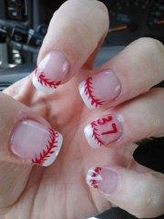 baseball nail art design