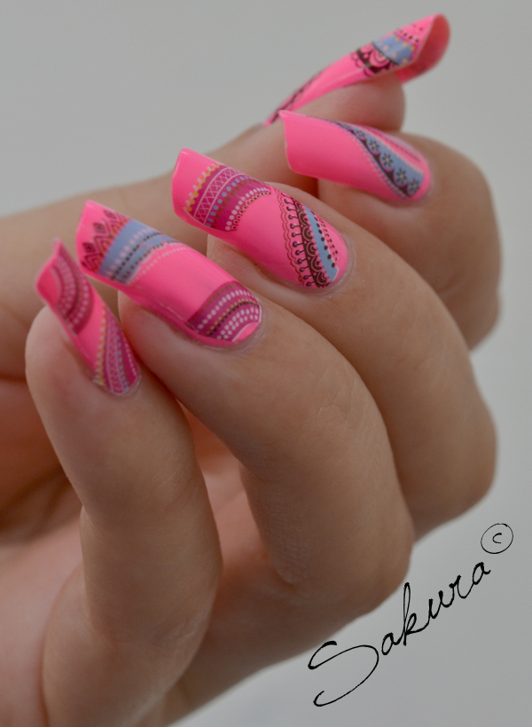 Nail art Flashy Rose 7