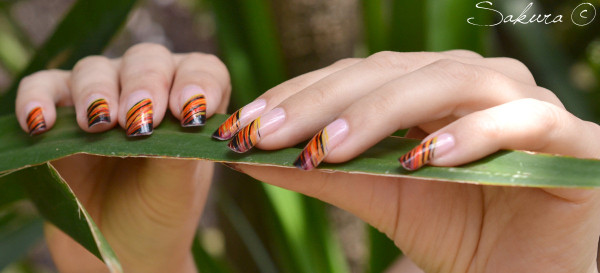 NAIL ART FLAMINGO 6