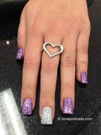 7 New Purple and Silver Nail Designs