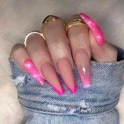 chic long nail design