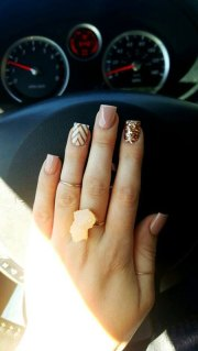 cute easy nail design short