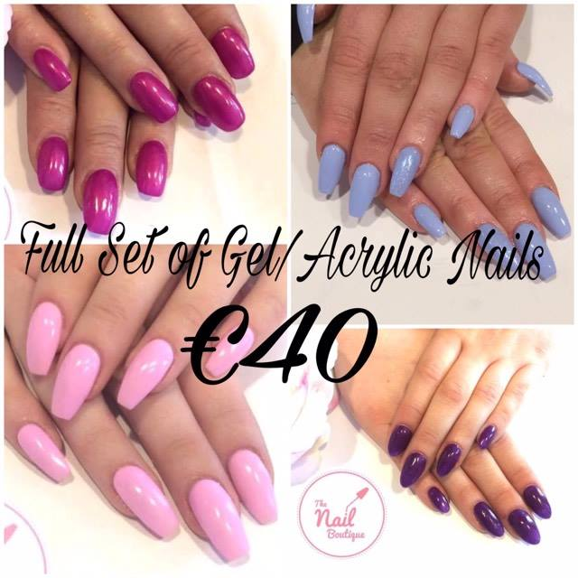 The Nail Boutique | March Offer - Gel or Acrylic Nails €40!