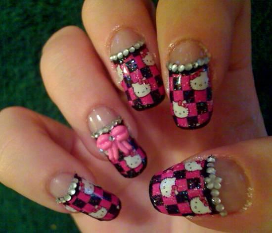 Hello Kitty Nail Designs