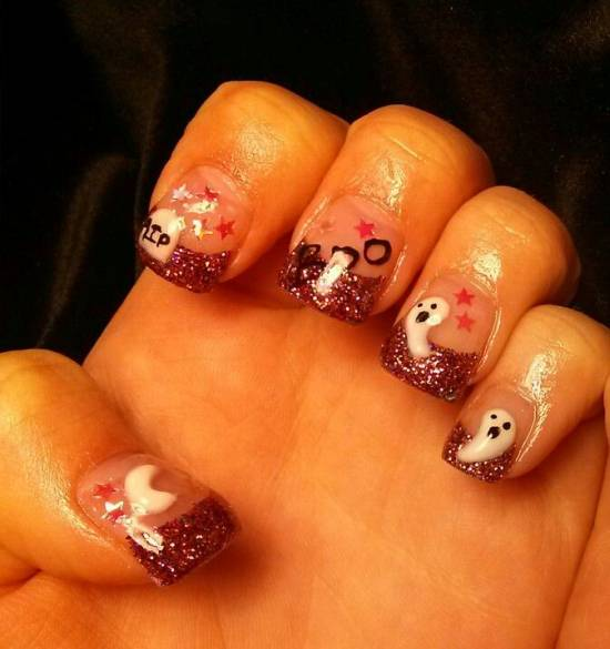The Ten Scariest Nail Art Designs For Halloween: 40 Scary 3D Halloween Nail Art Designs