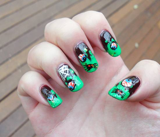 3D Halloween Nail Art Designs
