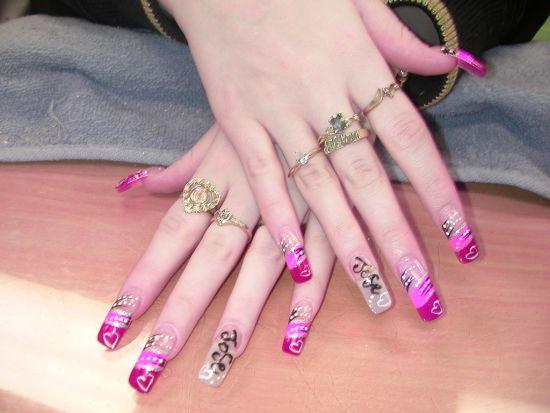 Stylish pink nails