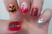 cute and creepy halloween nail