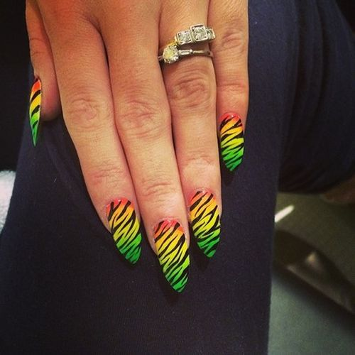 Celebrity jungle nails