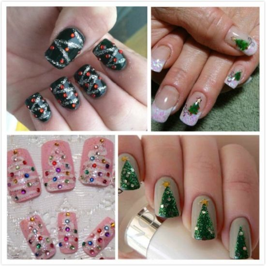 DIY Christmas nail designs
