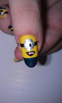 Top 35 Cutest Minion Nail Art Designs