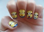 cutest minion nail art design