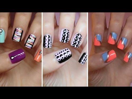 Unique striped nail art designs