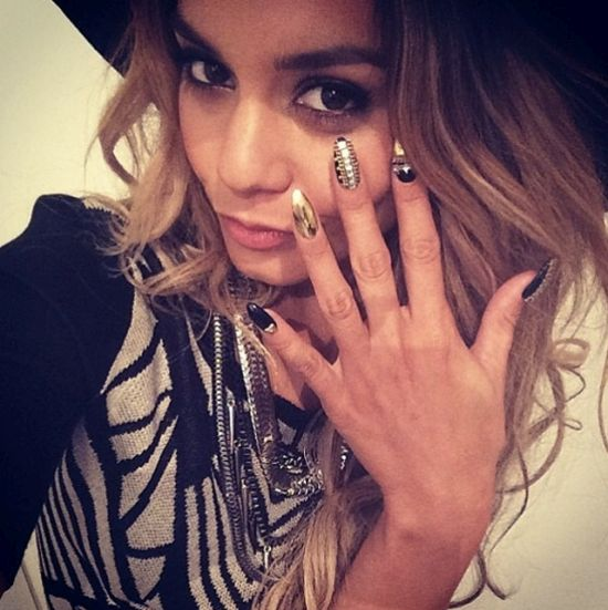 Vanessa Hudgen's stiletto celebrity nails