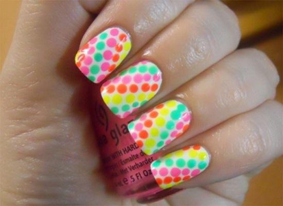 Neon Nail Art