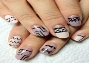 unique tribal nail art design