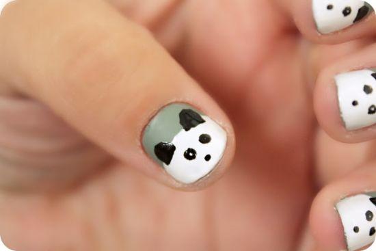 Panda Nail Art