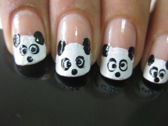 Panda Nail Art Tutorial