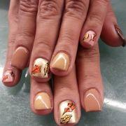 amazing fall nail design