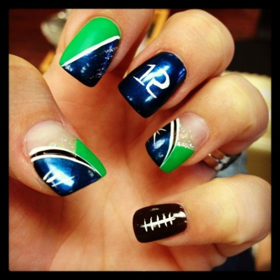Top 40 Football Nail Art Designs