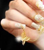 stunning japanese nail art design