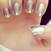 40 Pretty Silver Nail Art Designs | Nail Design Ideaz