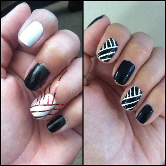 Nail Art Using Striping Tape: 40 Killer Striping Tape Nail Art Designs