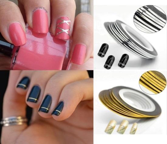 Striping Tape Nail Designs