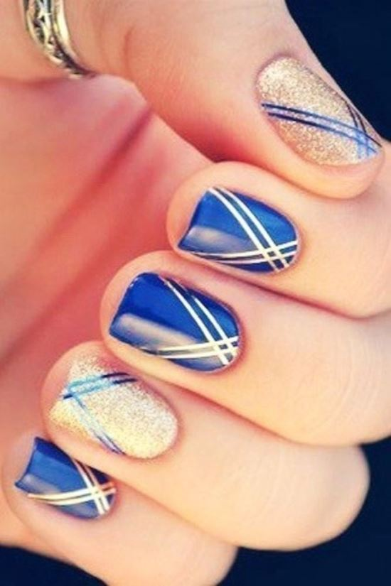 40 Striping Tape Nail Art Designs Design Ideaz