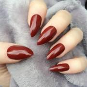 burgundy nail design 2015