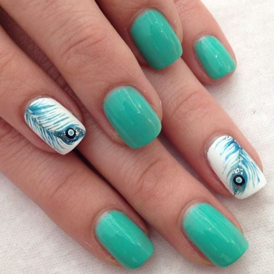 Feather Nail Art Ideas