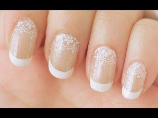Black Lace Nails
