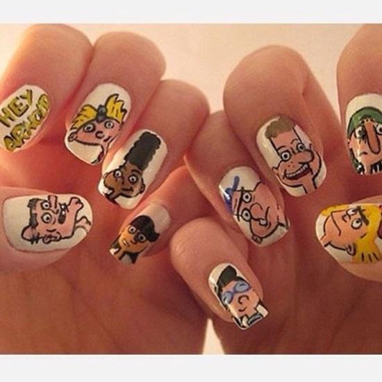 Cartoon Nail Art Designs