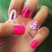 cute happy birthday nail art