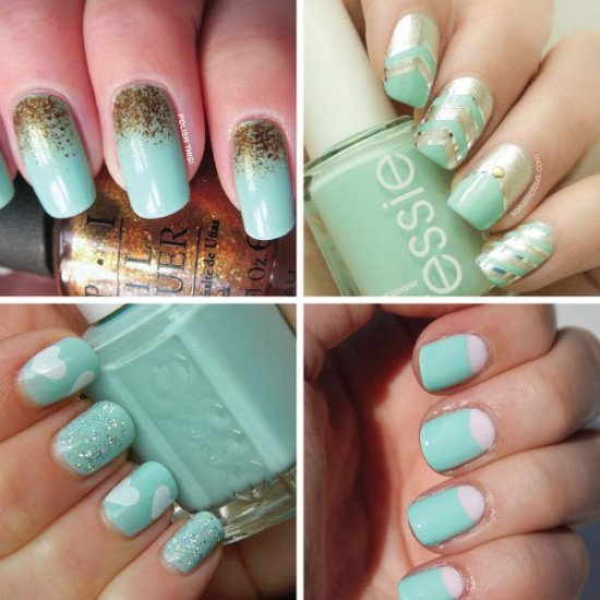 45 Cute Mint Nail Art Ideas for Summer