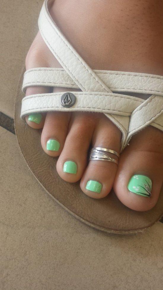 cute mint nail art ideas