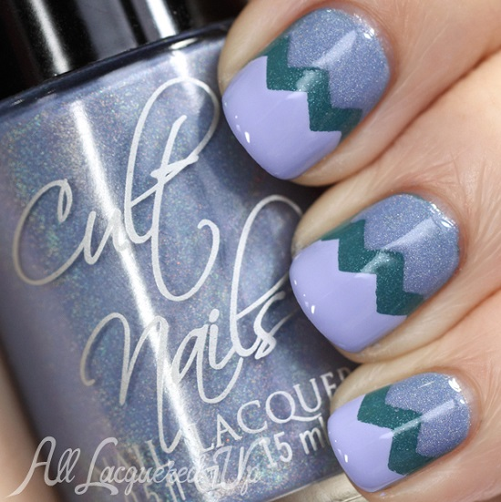 Perky Purple Chevron Nails