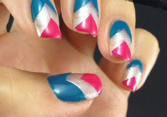 Captain America Chevron Nails