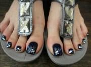 wedding toe nail art design