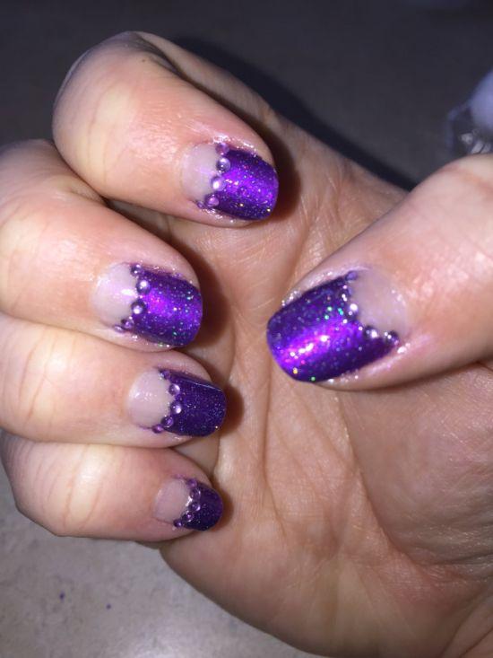 astonishing half moon nails