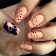cute dandelion nail art design